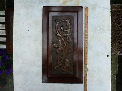 Antique Wooden Panel Plaque Sign Architectural Salvage Vintage  Gilt Rococo
