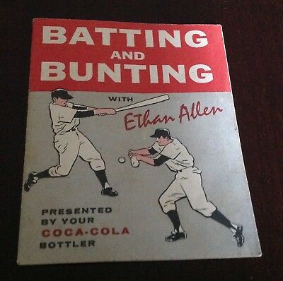 1961 Booklet By Coca-Cola...Batting And Bunting With Ethan Allen