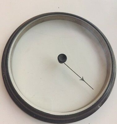 ANTIQUE ANEROID 13cms BAROMETER BEZEL Bevelled GLASS With HAND Pointer(A)