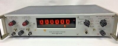 Hewlett Packard Electronic Counter 5233L Vintage Tested Powers On No Power Cord