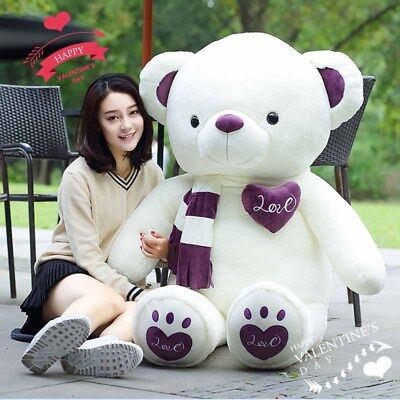 80CM Giant Big Plush Stuffed Bear Huge Soft 100% Cotton Toy Best Xmas Gifts Hot