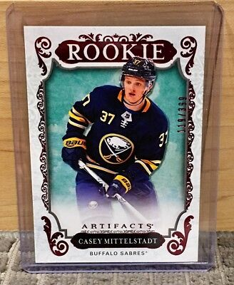 951ce09b6 2018-19 Artifacts Ruby  176 Casey Mittelstadt RC SP  399 Buffalo Sabres!