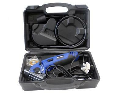 400w Mini Circular Saw With Wood, Metal and Tile Blades Included + Carry Case