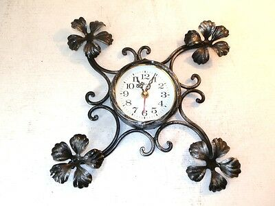 Wall clock with movement quartz iron wrought with decoration iron