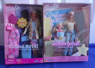 Grand Hotel 2001-Mother Goose Barbie Kelly Doll 2002 Book Toys R Us Excl. NRFB