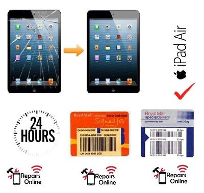 iPad Air 1 Glass Touch Screen Digitizer Button Replacement Repair Service