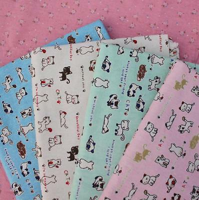 kitten Pattern Printing Cloth Cotton Linen Fabric Sewing curtain/table cloth DIY