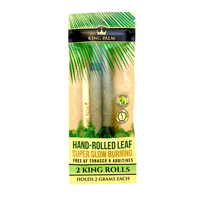 King Palms King Size Natural Slow Burning Pre-Rolled Leafs With Filter(2pack)