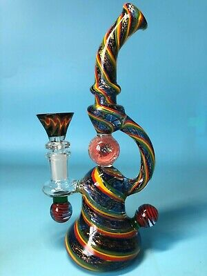 8 inches Color Ball Flash Glass smoking Pipes Water Bongs Glass Bong Hookahs