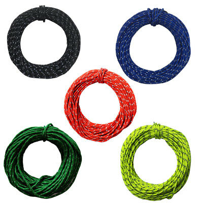 2.5mm/15m Outdoor Camping Multifunction Soft Reflective Tent Wind Rope Core #ur