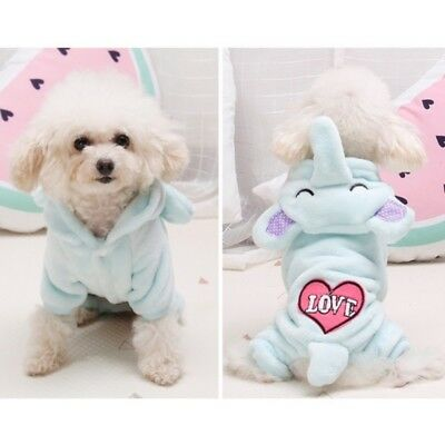 Small Pet Dog Coral Velvet Warm Sweater Coat Puppy Cat Clothes Winter Outwear AU