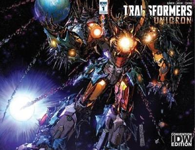 SDCC 2018 IDW Transformers Unicron #1 1 Alex Milne Limited to 500 Hasbro