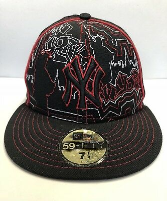4c7959e8 NEW YORK YANKEES MLB New Era 59Fifty Fitted Hat Cap Red White NY NWT ...