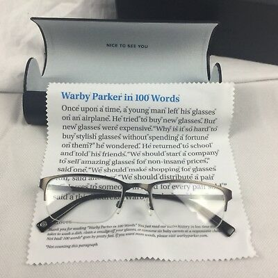5c47bba9a039 Warby Parker Prescription Eye Glasses Spectacles Mens Caldwell 2306 54-20- 145