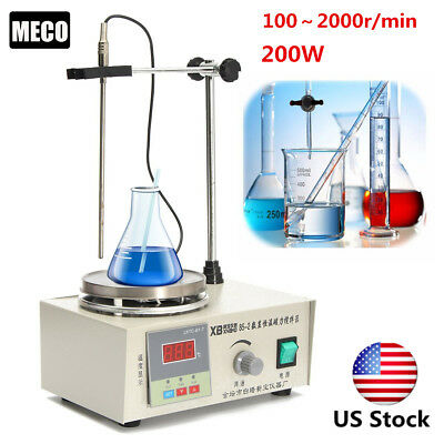 US 85-2 Magnetic Stirrer with Heating Plate Hotplate Digital Heating Lab Mixer