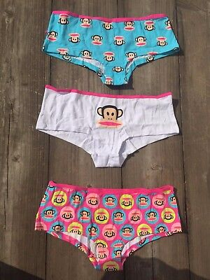 NEW Juniors Paul Frank Monkey Underwear The Just Julius 3-Pair PANTIES Set