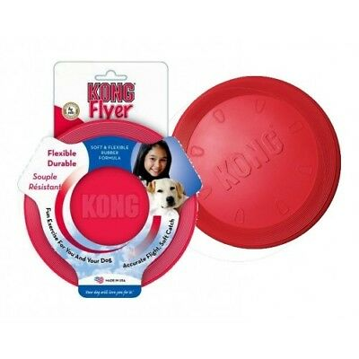KONG Flyer Dog Toy Large Classic - Fetch Frisbee Rubber Dog Puppy Chew Play Toy