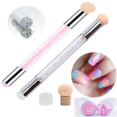 Double Head Sponge Silicone Stamper Nail Gradient Brush Dotting DIY Manicure BN