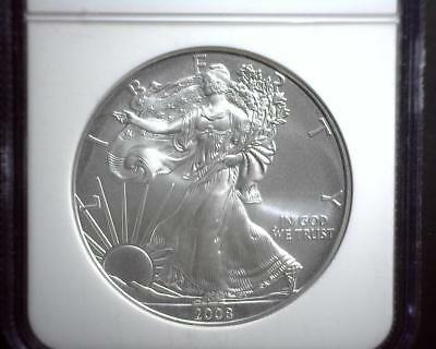 2008-W American Silver Eagle NGC MS 70 Early Releases 2299772-003