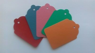 100 Coloured Unstrung Tickets 69Mm X 44Mm Price Tagging Tags Blank Craft Labels