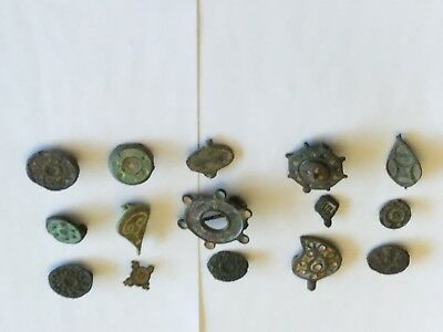 15 roman or celtic enameled pieces