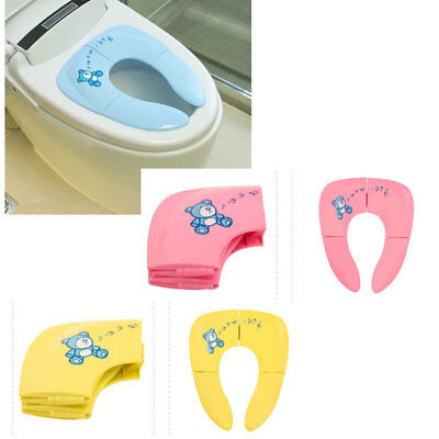 Baby Child Folding Toilet Seat Portable Kids Lid Cushion Toddler Pp Material