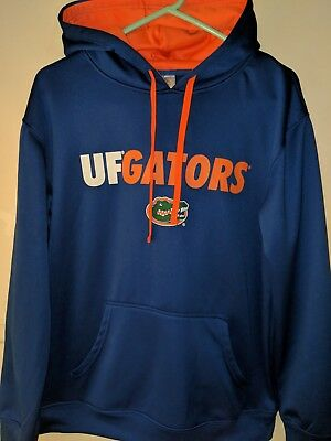 2fd3fa6cc26 UF Florida Gators Men s Size Medium Blue Orange Sweatshirt Hooded Sweater