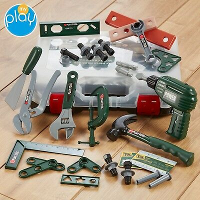 My Play Children's Tool Set Kids Construction Kit Carry Case 37pc Toy Gift Set