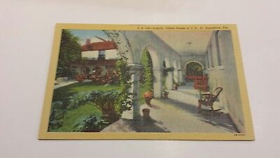 Oldest House in US, St. Augustine, Florida SA 144 1940s Linen Postcard Unused