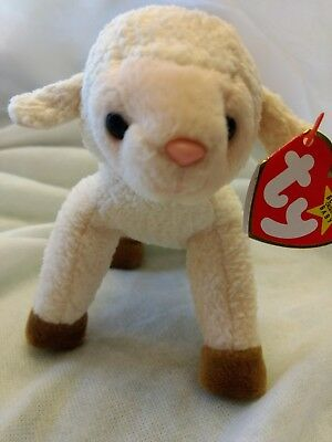 db524ab75d3 TY Beanie Baby ~ EWEY Easter Lamb Sheep ~ NEW with Tags Retired   Tag Error