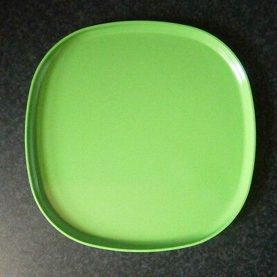 Funky Vintage Bessemer Australian Melmac Melamine Green Picnic Plate / Bbq Tray