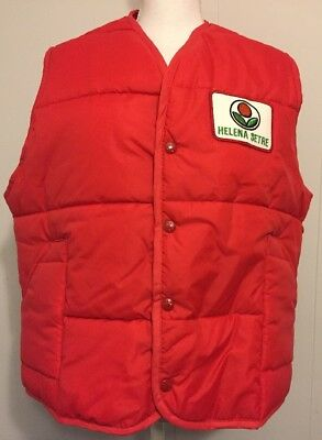 New King Louie Vintage Red Puffer Vest Helena Setre Chemical Farming Agriculture