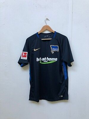Nike Men's Hertha Berlin FC 17/18 Bundesliga 1 Away Shirt - Large - No Name -New