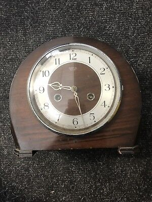 Smiths of Enfield Vintage wind up clock for parts or display  31/10 UN D