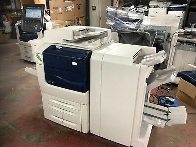 Xerox C550 Laser Printer With Fiery And Booklet Folding Finisher!