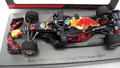 bedd9a8c4e0 1 43 Spark model S6058 Aston Martin Red Bull Racing RB14 Winner China  Ricciardo