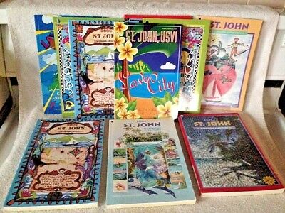 2-St.John USVI Books. 2010-11.Colorful Pictures Before IRMA.**Kenny Chesney Ad**