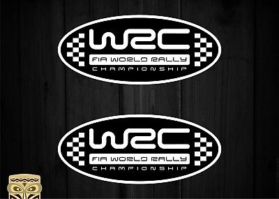 Pegatina Decal Sticker Autocollant Adesivi Aufkleber  2 X Wrc World Rally