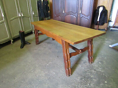 Large French vintage farmhouse,kitchen dining table,solid oak refectory