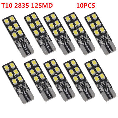 10x 12SMD 2835 Canbus Error Free Car LED Reading Light T10 168 194 W5W Wedge 12V
