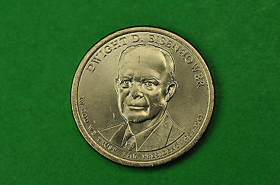 2015-D BU Mint State (Dwight D Eisenhower) US Presidential One Dollar Coin