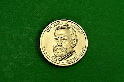 2012-D BU Mint State (BENJAMIN HARRISON) US Presidential One Dollar Coin