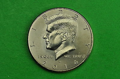 2014-D Choice BU Mint State Kennedy US Half Dollar Coin