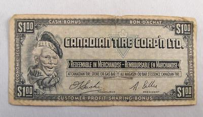 Vintage Canadian Tire Ctc Money 1$ Note  # F0473745