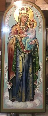 Antiques Lager icon of Mother Of God , 20th century,