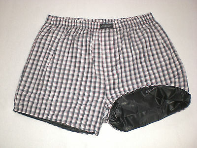 Neu Pvc & Cotton Doppel Boxershorts Shorts & Innen Pvc Pants  Xl