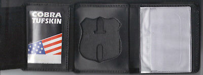 badge NOT included NYC-Auxiliary-Police-Style Star Tri-Fold DL//Money//CC Wallet