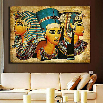 1140 Modern Egyptian Pharaoh Canvas Wall Art Painted Oil Painting For Home Decor