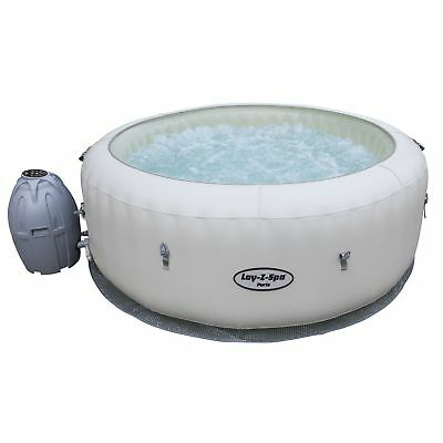 Spa hinchable de bolas redondo París - Aire Jet - 4/6 Places - Blanco