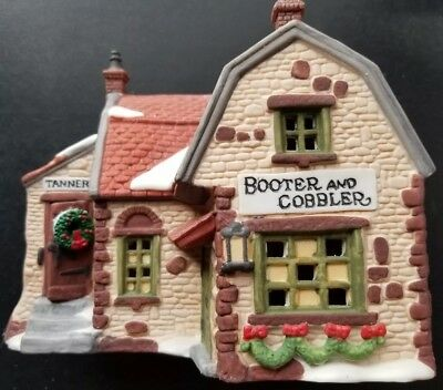 "Department 56 Heritage Village Dicken's Village Series ""Booter and Cobbler"" 1988"